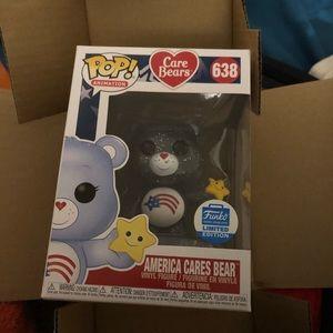 Limited Edition America Cares Bear pop figure